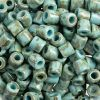 Rola Bead 6.2mm Opaque 100g Travertine On Turquoise